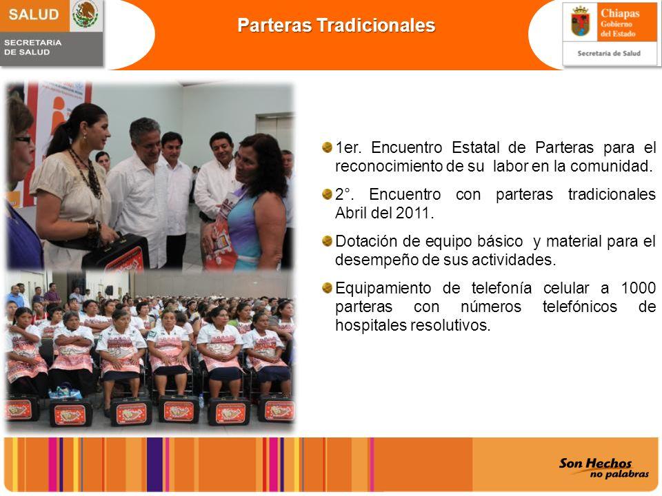 Parteras Tradicionales 1er. Encuentro Estatal de Parteras para el reconocimiento de su labor en la comunidad. 2°. Encuentro con parteras tradicionales