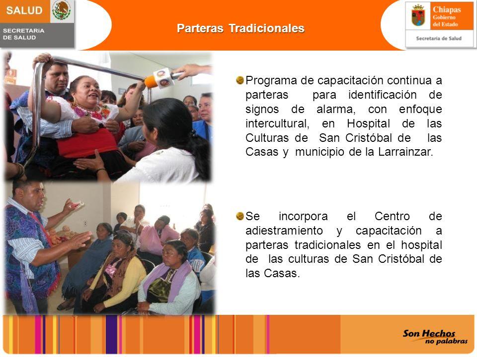 Programa de capacitación continua a parteras para identificación de signos de alarma, con enfoque intercultural, en Hospital de las Culturas de San Cr