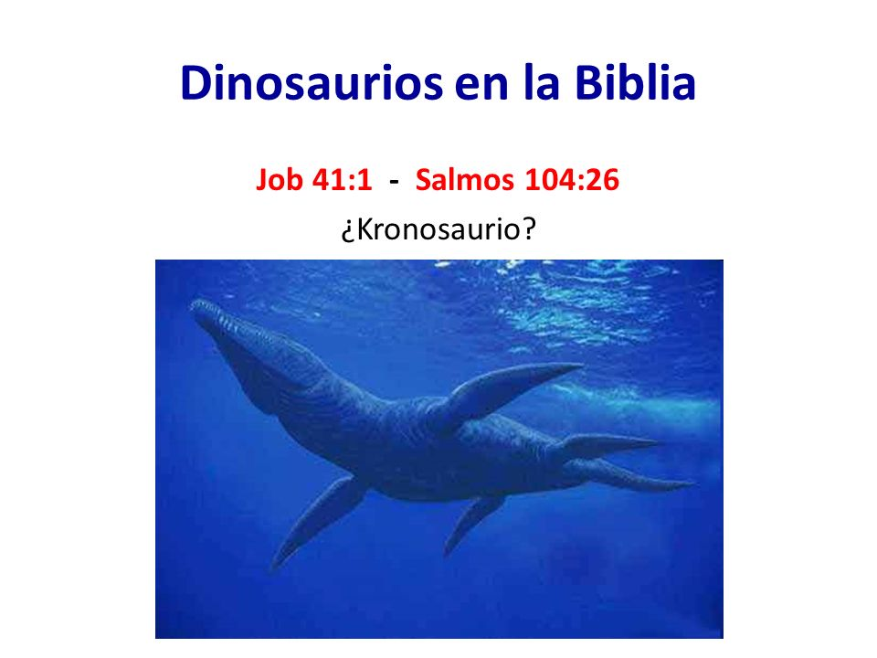 Dinosaurios en la Biblia Job 41:1 - Salmos 104:26 ¿Kronosaurio?