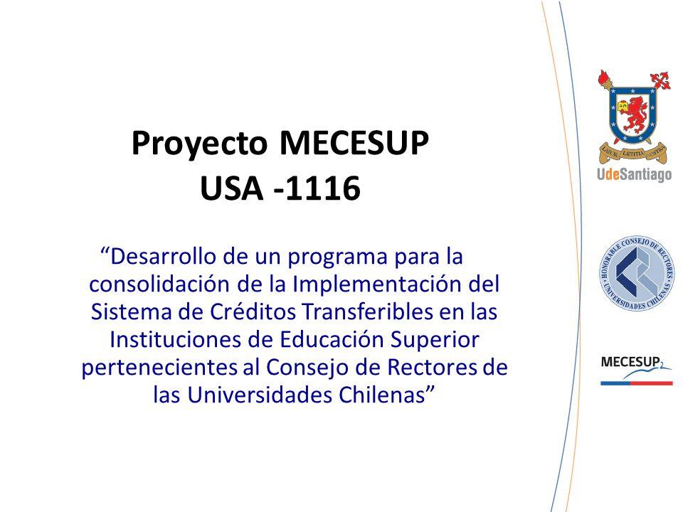 Proyecto MECESUP USA -1116 Desarrollo de un programa para la consolidación de la Implementación del Sistema de Créditos Transferibles en las Instituci