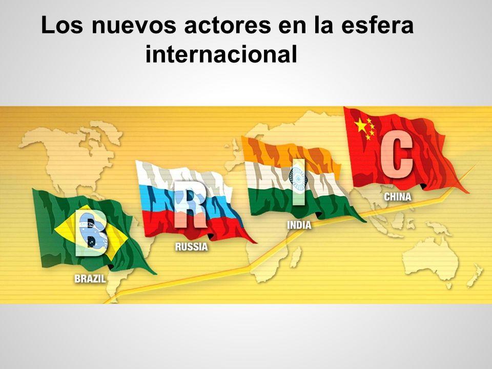 Los nuevos actores en la esfera internacional