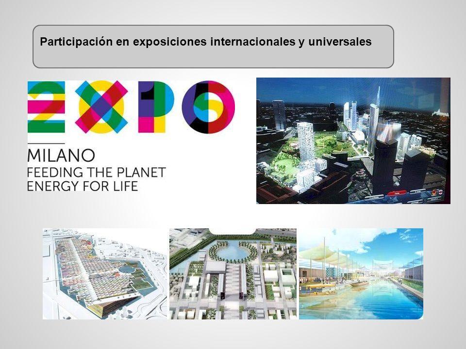 Participación en exposiciones internacionales y universales