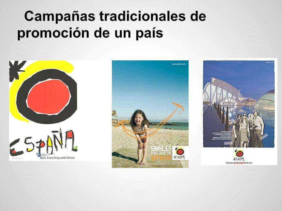 Campañas tradicionales de promoción de un país