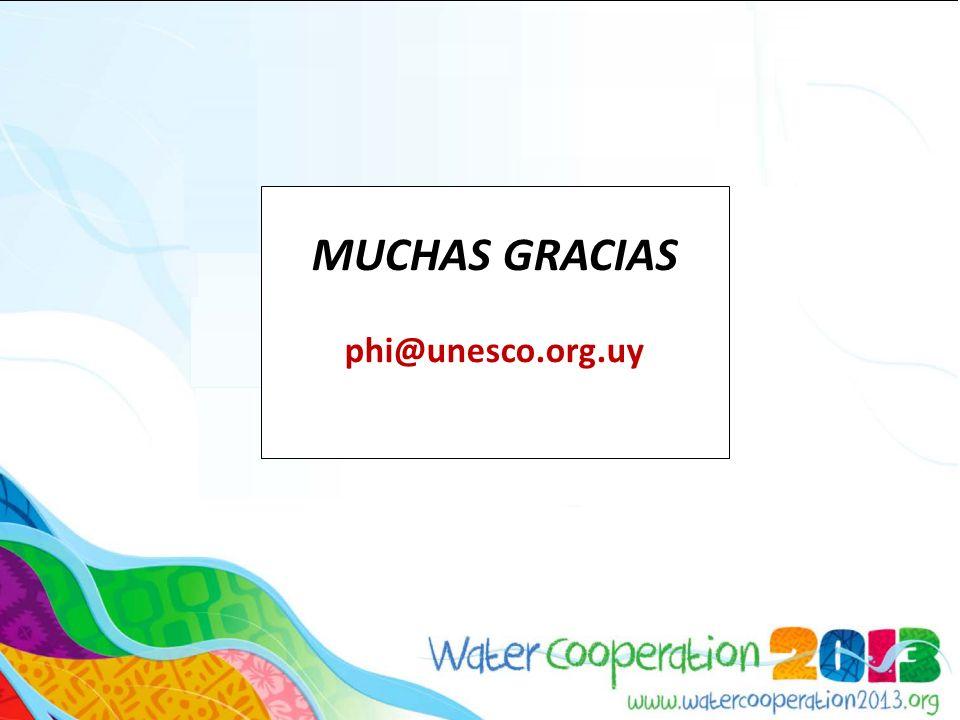 MUCHAS GRACIAS phi@unesco.org.uy