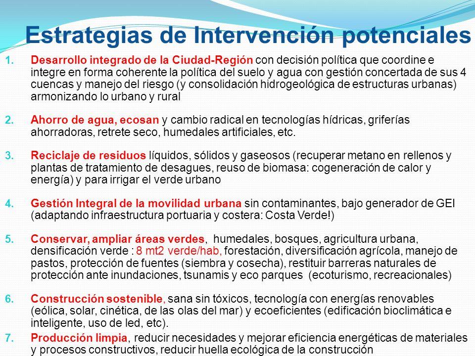 Estrategias de Intervención potenciales 1.