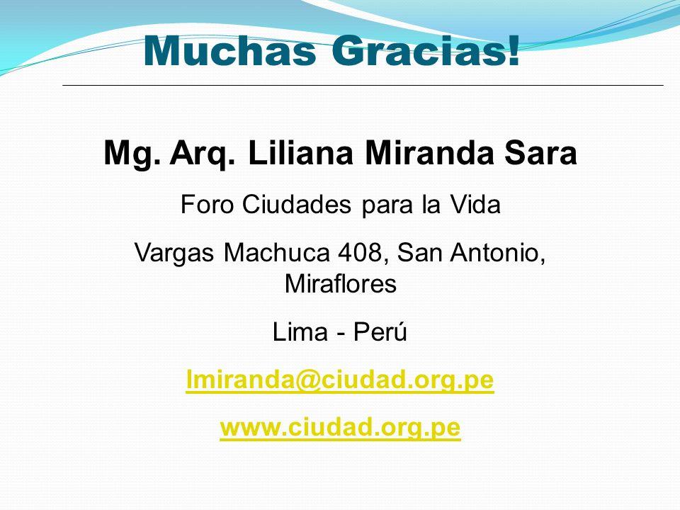 Muchas Gracias.Mg. Arq.