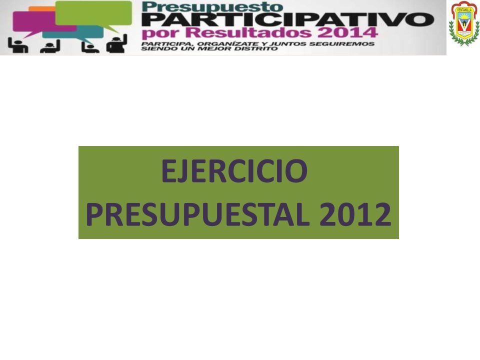 EJERCICIO PRESUPUESTAL 2012