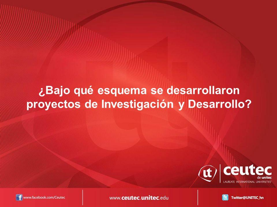 ¿Bajo qué esquema se desarrollaron proyectos de Investigación y Desarrollo?