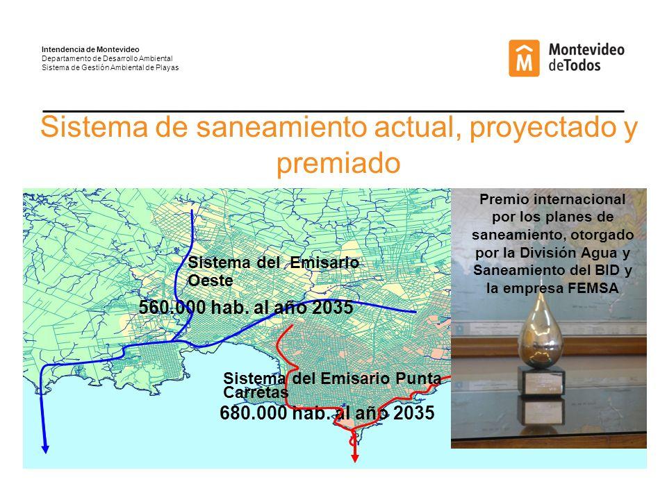 Sistema del Emisario Oeste 680.000 hab.al año 2035 560.000 hab.