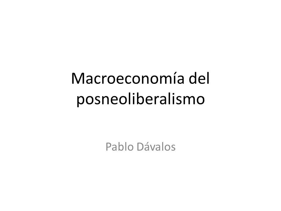 Macroeconomía del posneoliberalismo Pablo Dávalos
