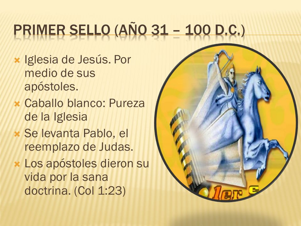 Iglesia de Jesús. Por medio de sus apóstoles.