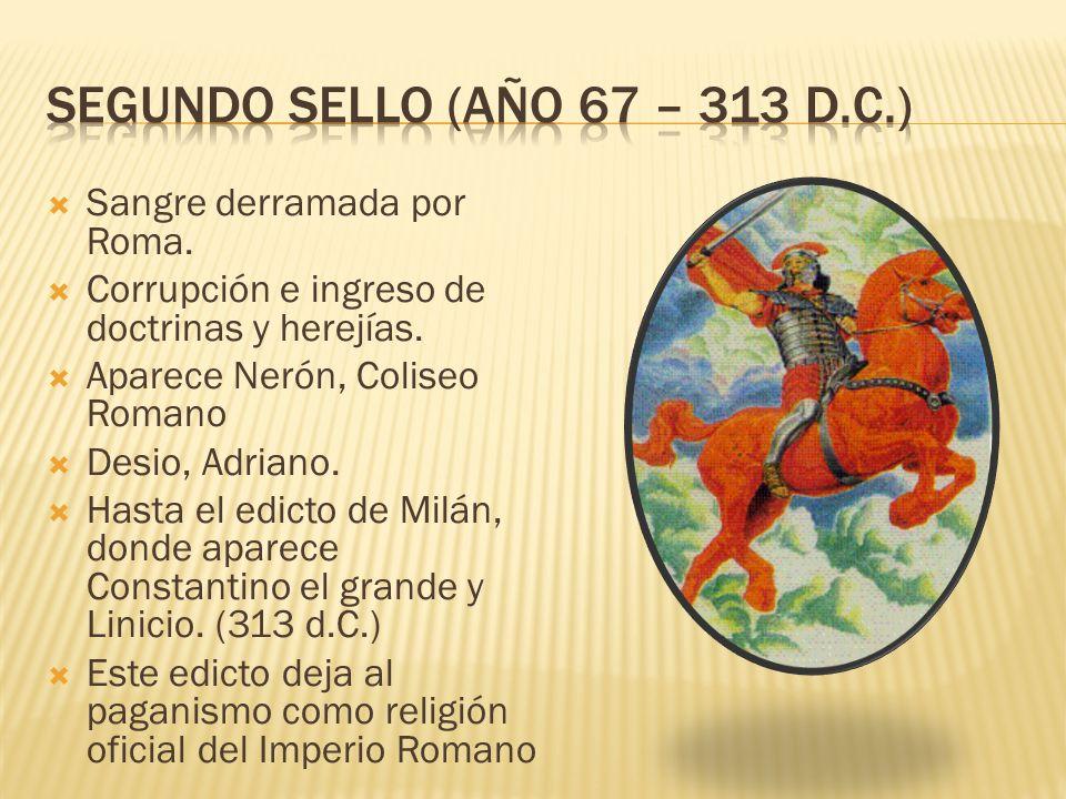 Sangre derramada por Roma. Corrupción e ingreso de doctrinas y herejías.