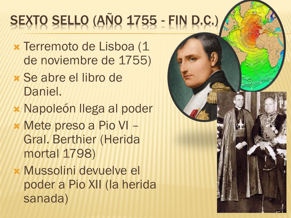Terremoto de Lisboa (1 de noviembre de 1755) Se abre el libro de Daniel.