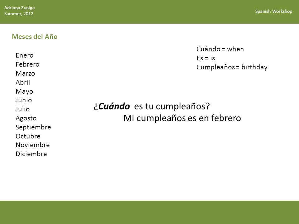 Spanish Workshop ¡Buenos días/tardes/noches.(Good morning/afternoon/night!) ¡Hasta pronto.