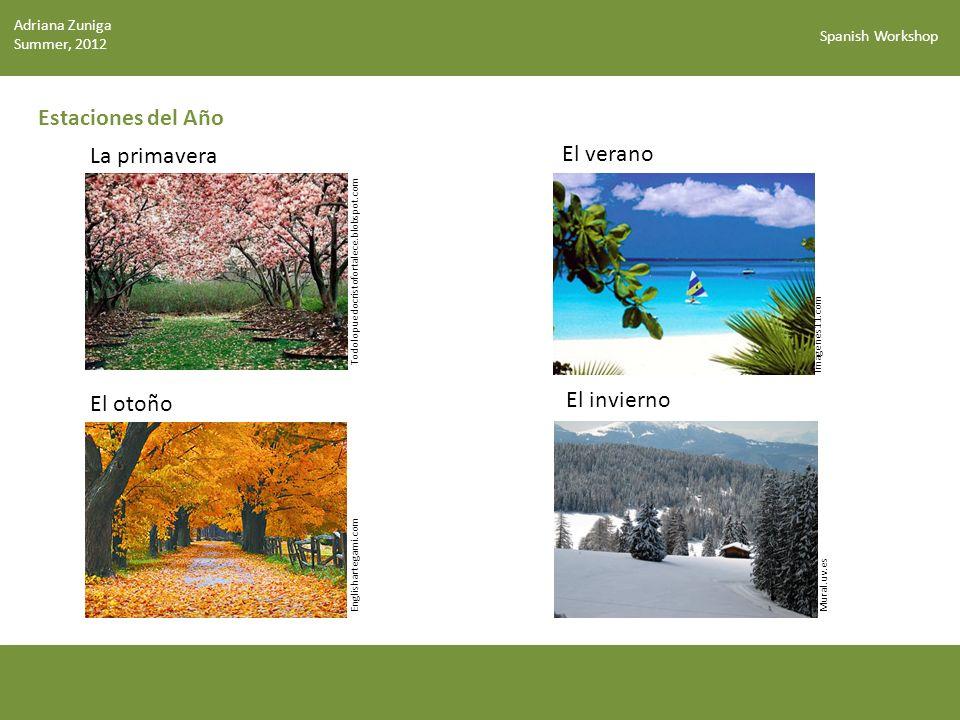 Spanish Workshop Estaciones del Año La primavera El verano El otoño El invierno ¿Cuándo es tu cumpleaños.