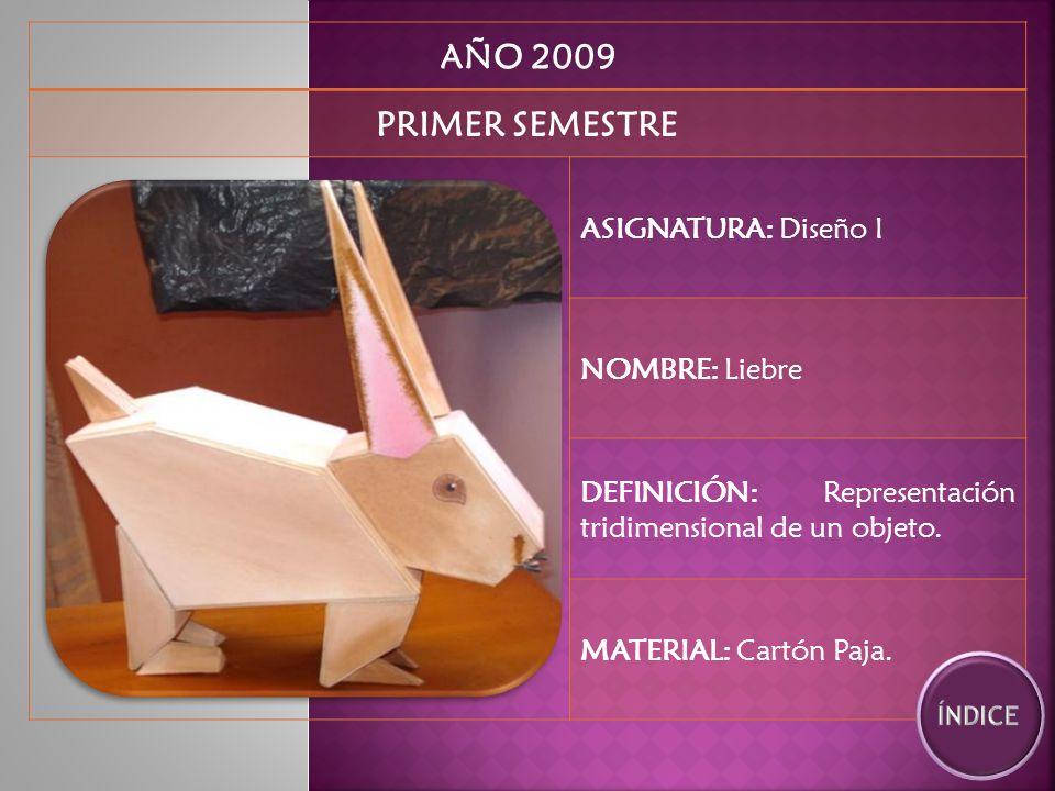 AÑO 2009 SEGUNDO SEMESTRE ASIGNATURA: Expresión II NOMBRE: Hamburguesa, Plato y Vaso.