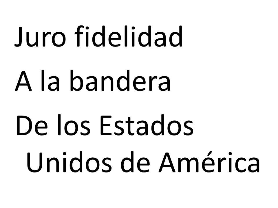 Juro fidelidad A la bandera De los Estados Unidos de América