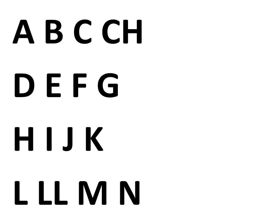 A B C CH D E F G H I J K L LL M N