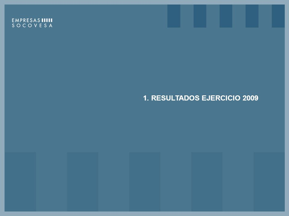 1. RESULTADOS EJERCICIO 2009