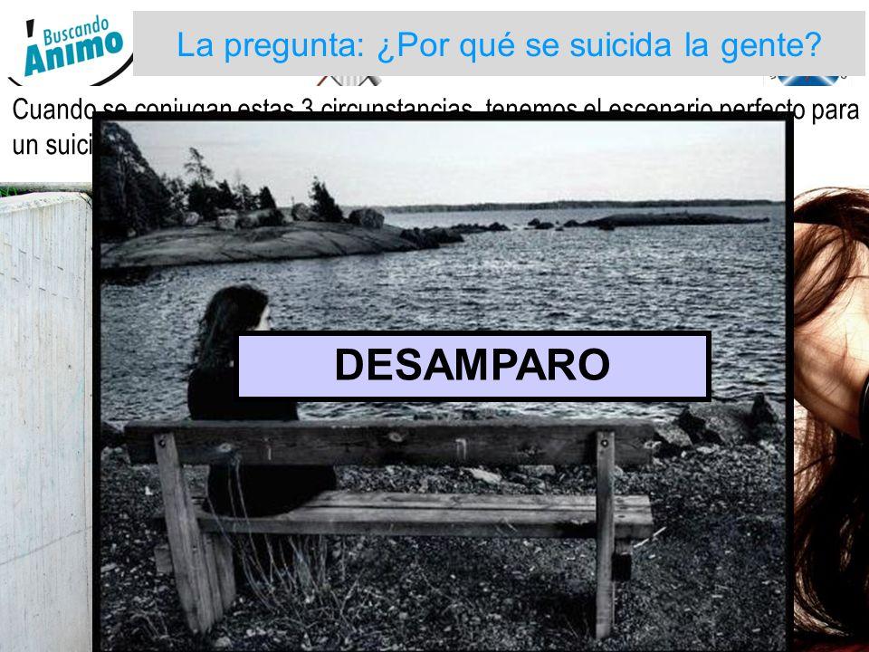 GOBERNACION DE ARAUCA Cuando se conjugan estas 3 circunstancias, tenemos el escenario perfecto para un suicidio: La pregunta: ¿Por qué se suicida la gente.