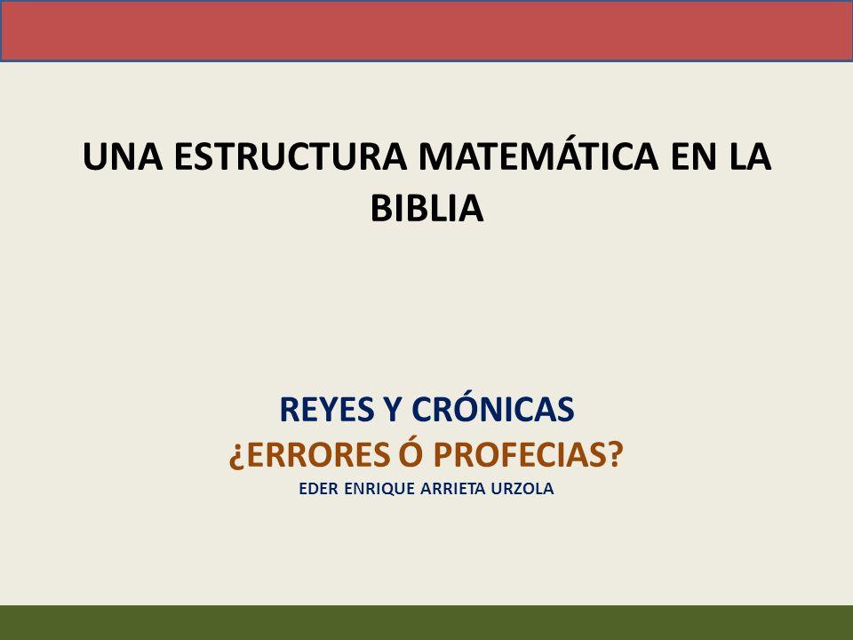 ¡Es imposible armonizar la información numérica de Reyes y Crónicas bajo una línea de tiempo!
