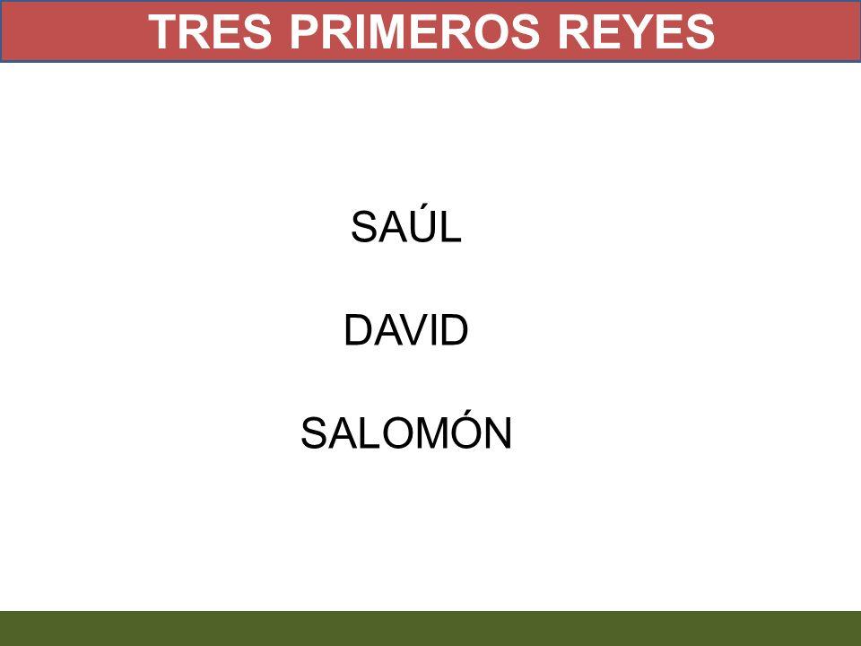 TRES PRIMEROS REYES SAÚL DAVID SALOMÓN