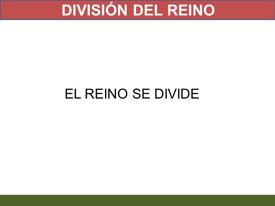 EL REINO SE DIVIDE DIVISIÓN DEL REINO
