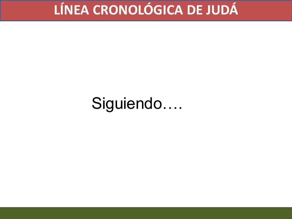 Siguiendo…. LÍNEA CRONOLÓGICA DE JUDÁ