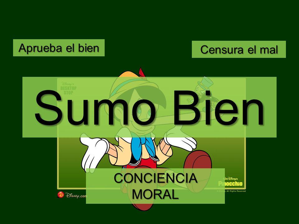 CONCIENCIA MORAL Aprueba el bien Censura el mal Sumo Bien
