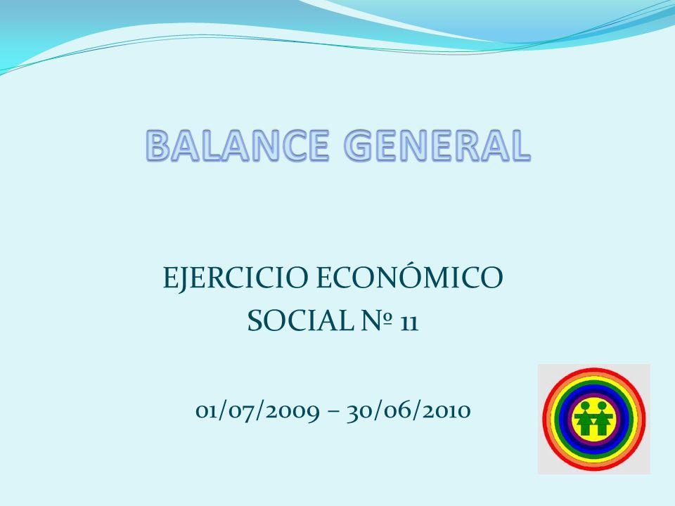 EJERCICIO ECONÓMICO SOCIAL Nº 11 01/07/2009 – 30/06/2010