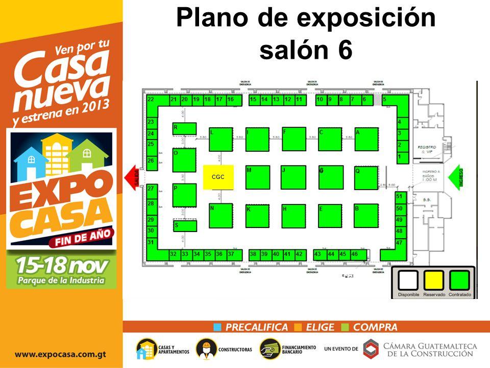 Plano de exposición salón 6 CGC