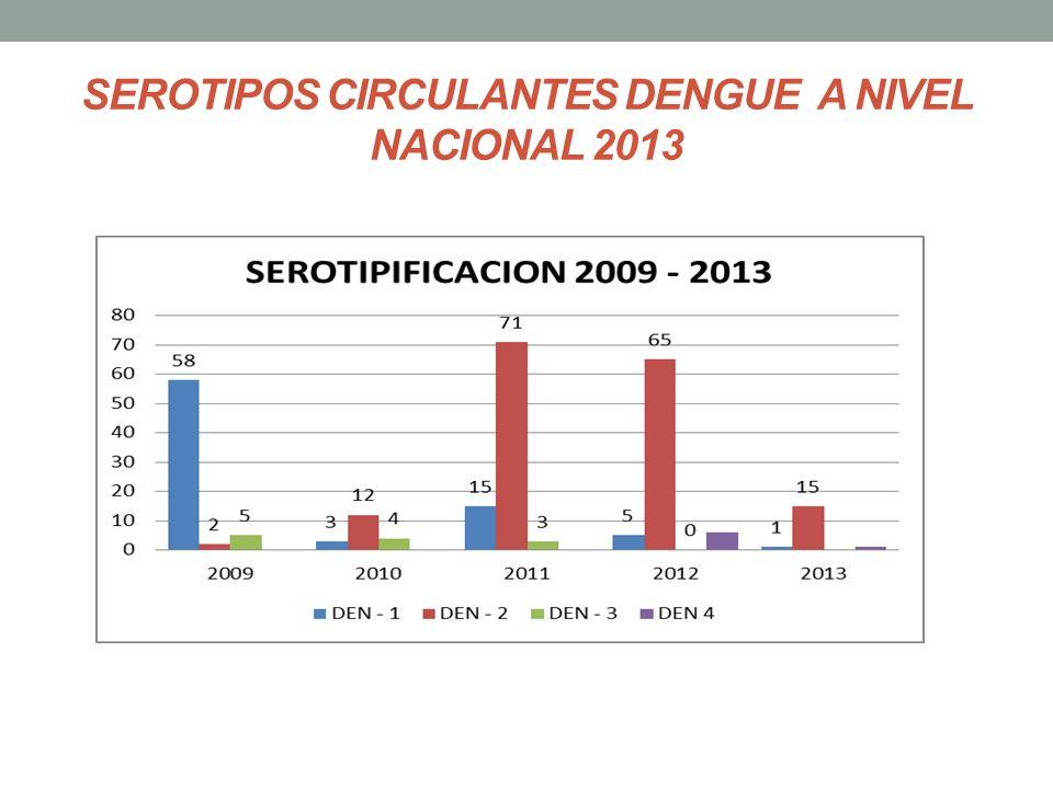 SEROTIPOS CIRCULANTES DENGUE A NIVEL NACIONAL 2013