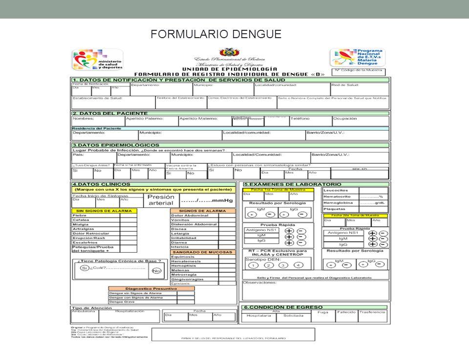 FORMULARIO DENGUE