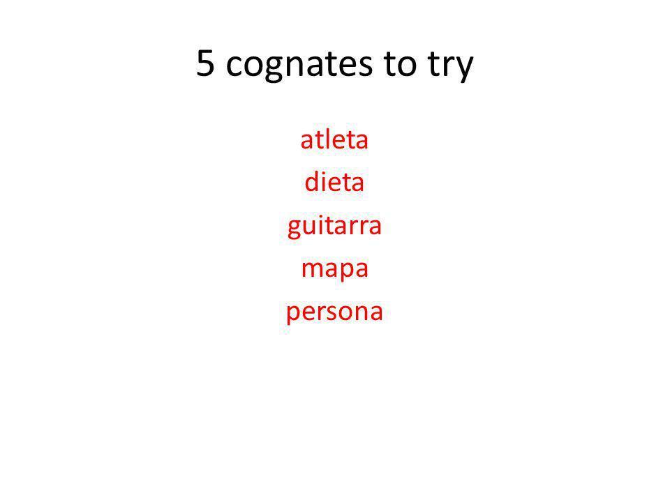 5 cognates to try atleta dieta guitarra mapa persona