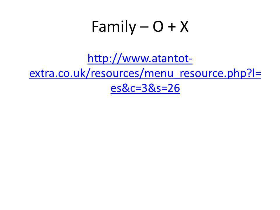 Family – O + X http://www.atantot- extra.co.uk/resources/menu_resource.php?l= es&c=3&s=26