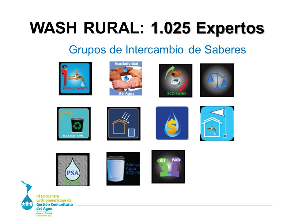 1.025 Expertos WASH RURAL: 1.025 Expertos Grupos de Intercambio de Saberes