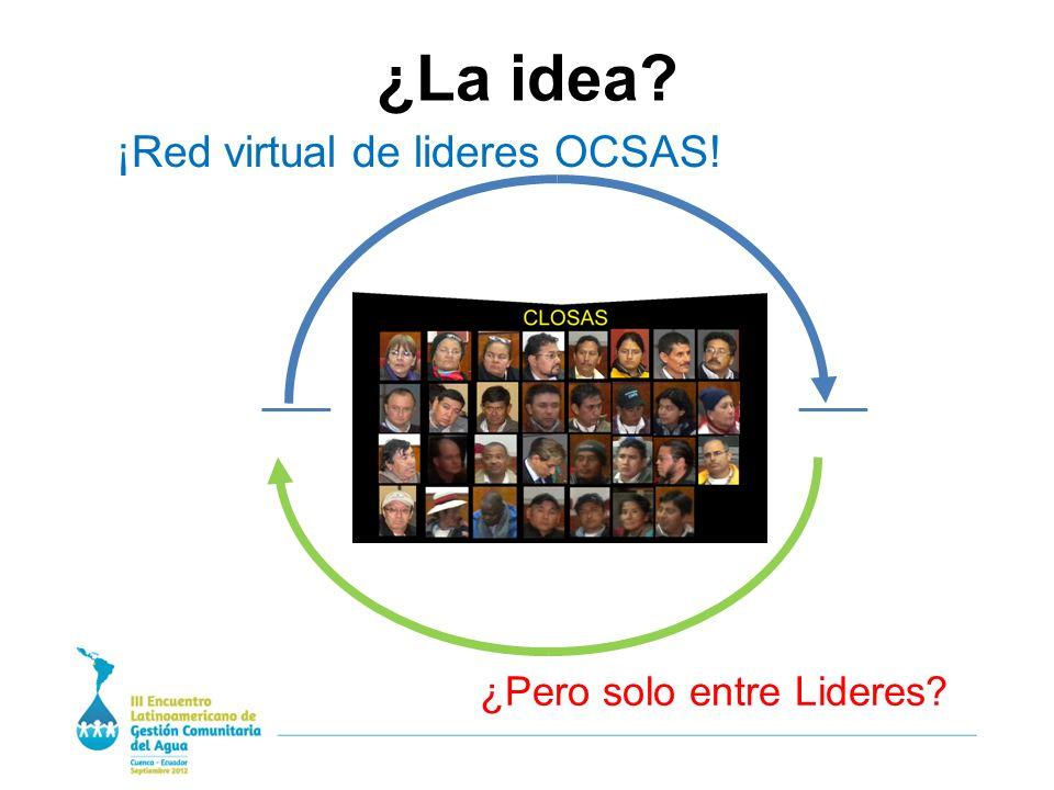 ¿La idea ¡Red virtual de lideres OCSAS! ¿Pero solo entre Lideres