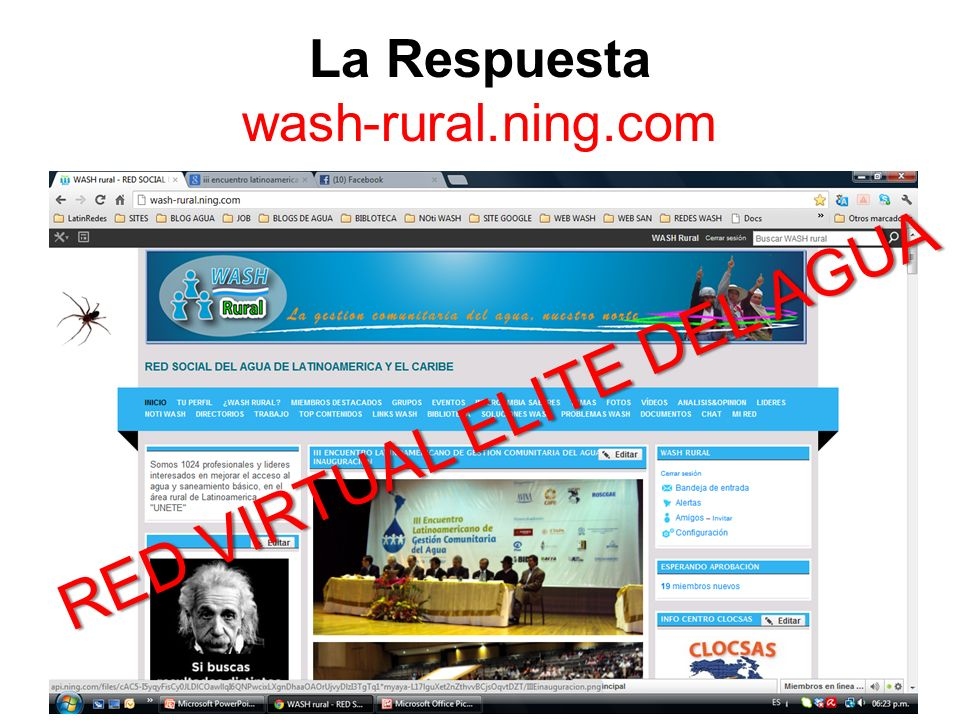 La Respuesta wash-rural.ning.com RED VIRTUAL ELITE DEL AGUA
