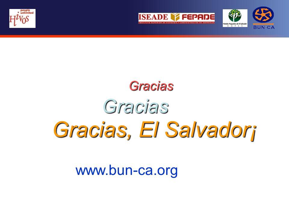 Gracias Gracias Gracias, El Salvador¡ www.bun-ca.org