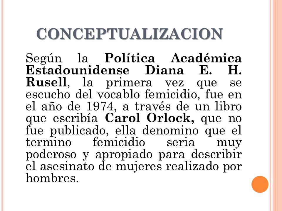 CONCEPTUALIZACION Según la Política Académica Estadounidense Diana E.