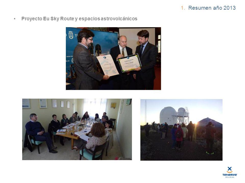 1. Resumen año 2013 Proyecto Eu Sky Route y espacios astrovolcánicos