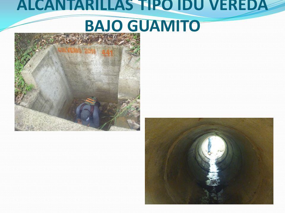CONSTRUCCION DE ALCANTARILLAS TIPO IDU VEREDA BAJO GUAMITO