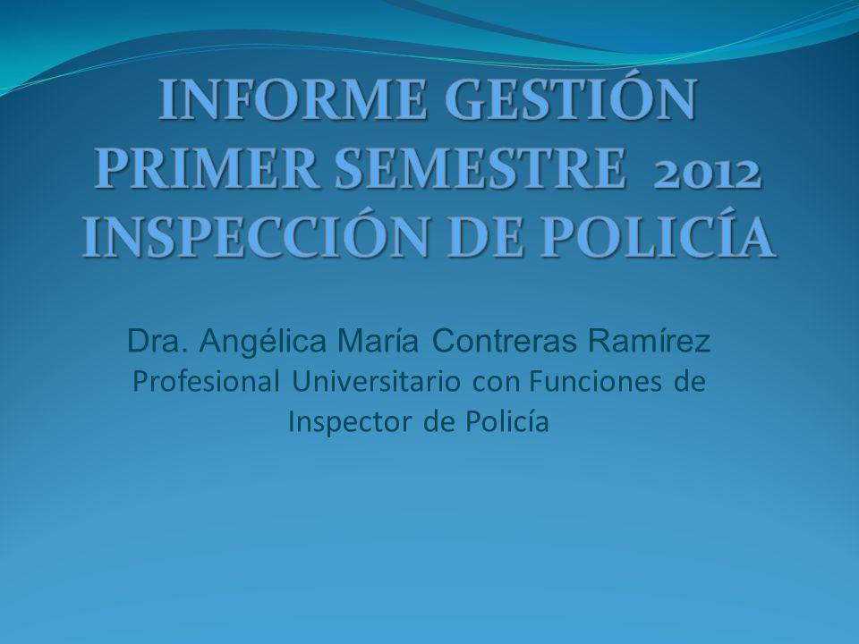 Dra. Angélica María Contreras Ramírez Profesional Universitario con Funciones de Inspector de Policía