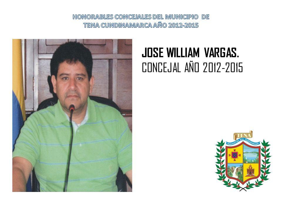LUIS ALBERTO MANRIQUE ALFONSO. CONCEJAL DEL MUNICIPIO AÑO 2012-2015