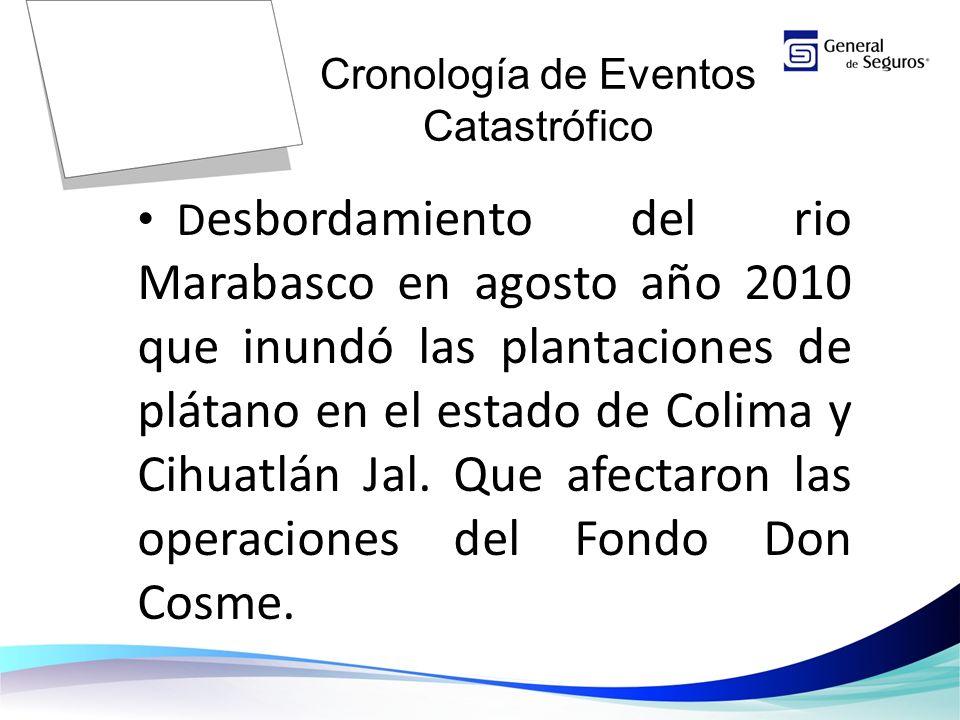 D esbordamiento del rio Marabasco en agosto año 2010 que inundó las plantaciones de plátano en el estado de Colima y Cihuatlán Jal.