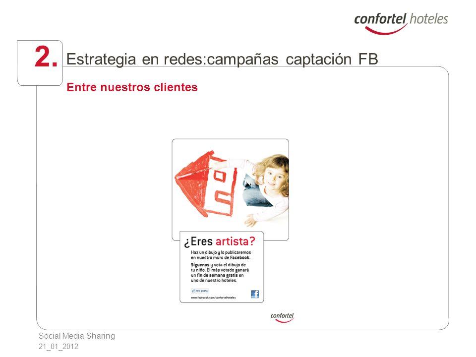 Social Media Sharing 21_01_2012 2. Estrategia en redes:campañas captación FB Entre nuestros clientes