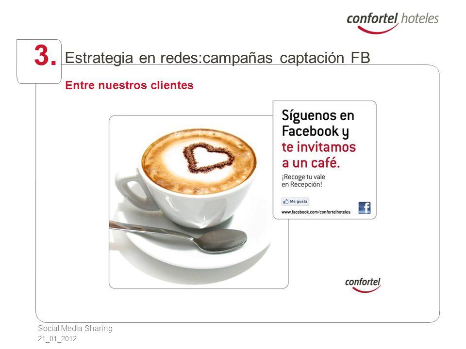 Social Media Sharing 21_01_2012 3. Estrategia en redes:campañas captación FB Entre nuestros clientes