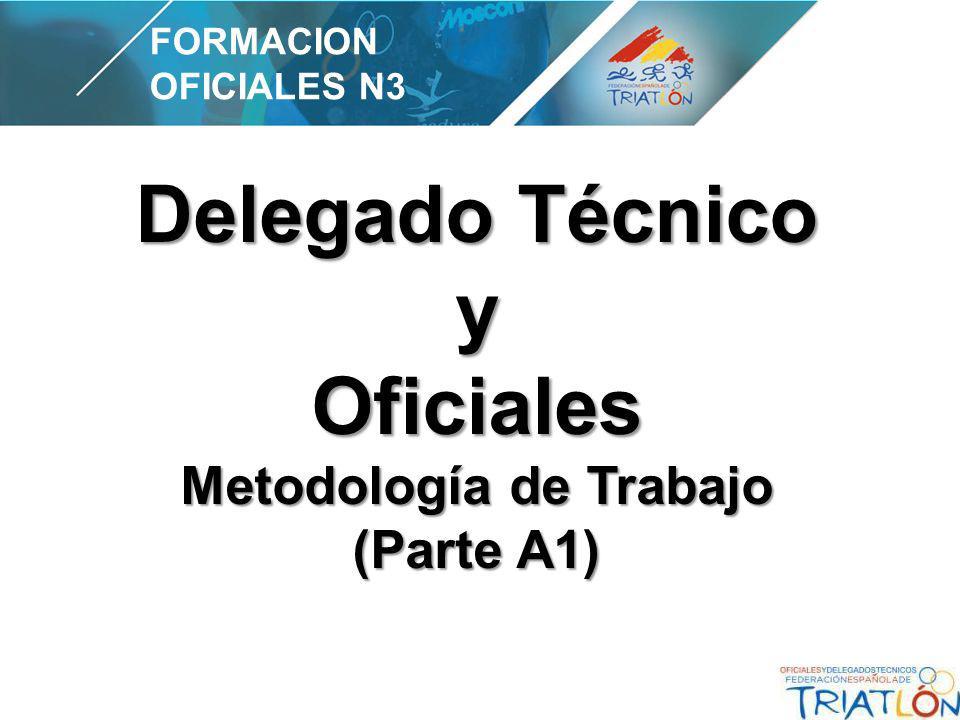 Delegado Técnico y Oficiales Metodología de Trabajo (Parte A1) FORMACION OFICIALES N3