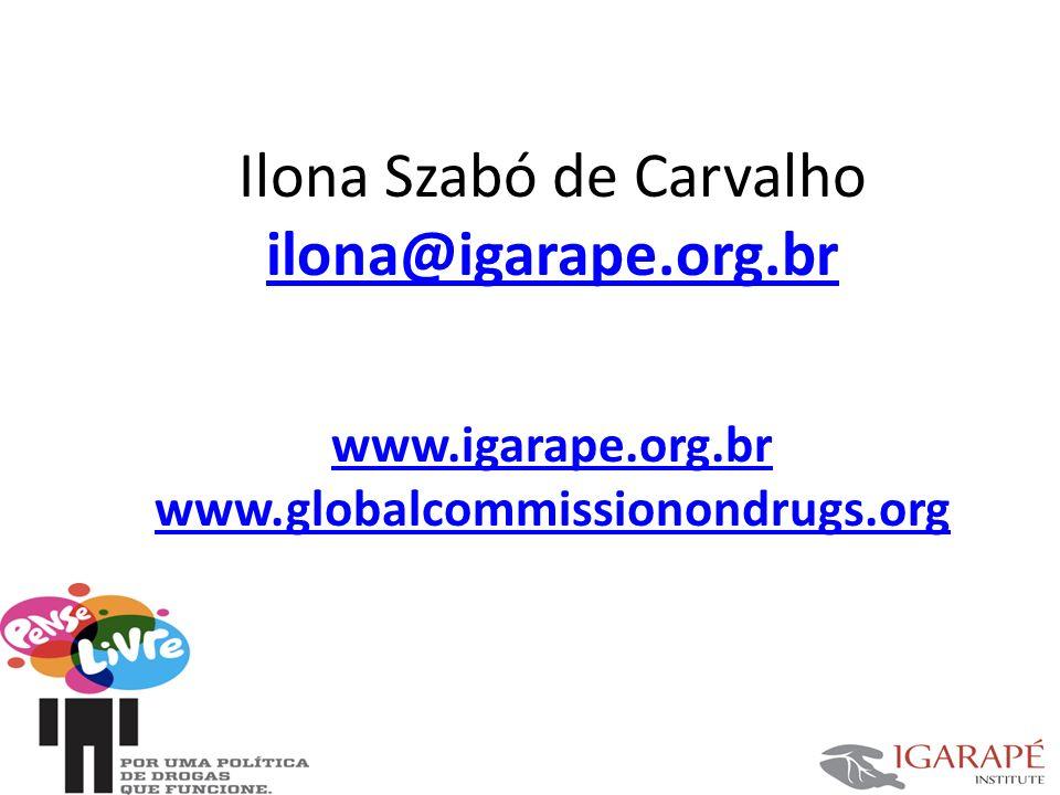 Ilona Szabó de Carvalho ilona@igarape.org.br www.igarape.org.br www.globalcommissionondrugs.org