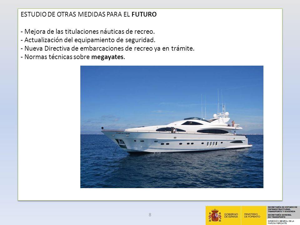 ESTUDIO DE OTRAS MEDIDAS PARA EL FUTURO - Mejora de las titulaciones náuticas de recreo.